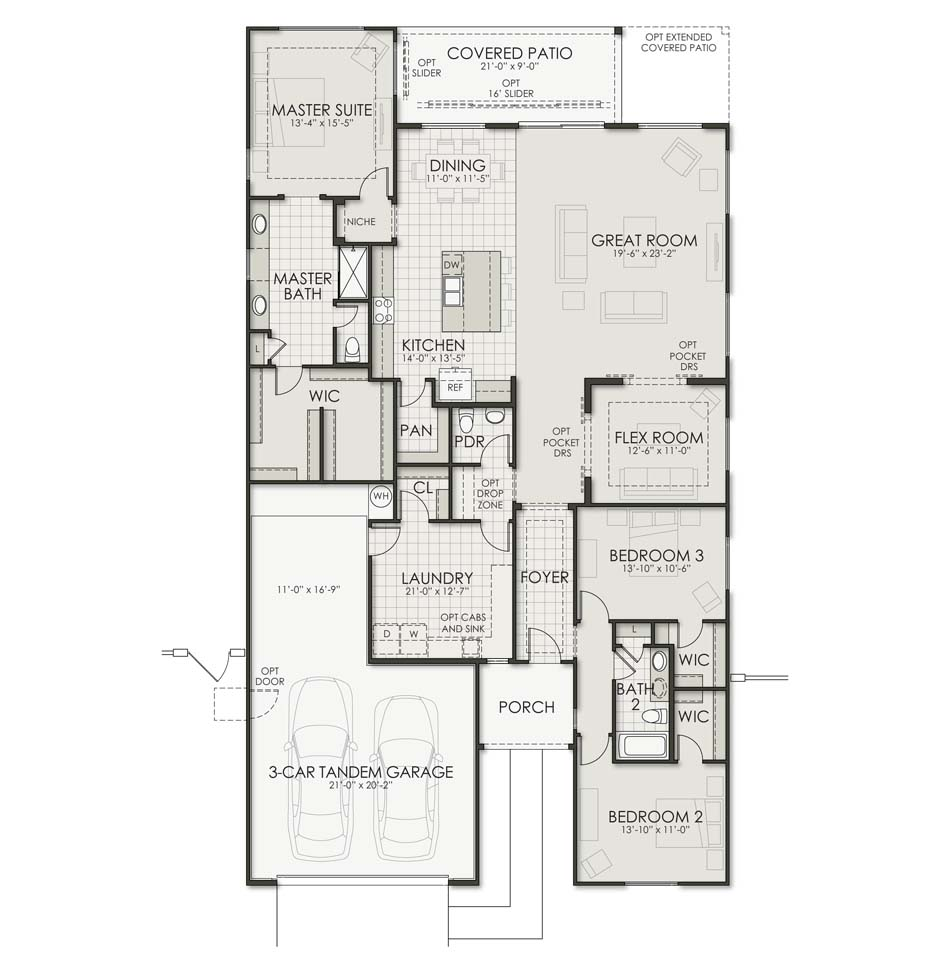 Laredo - Plan 2492 Floorplan Image