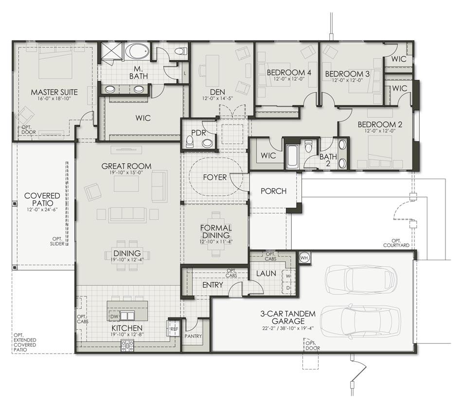 Parada - Plan 3040 Floorplan Image