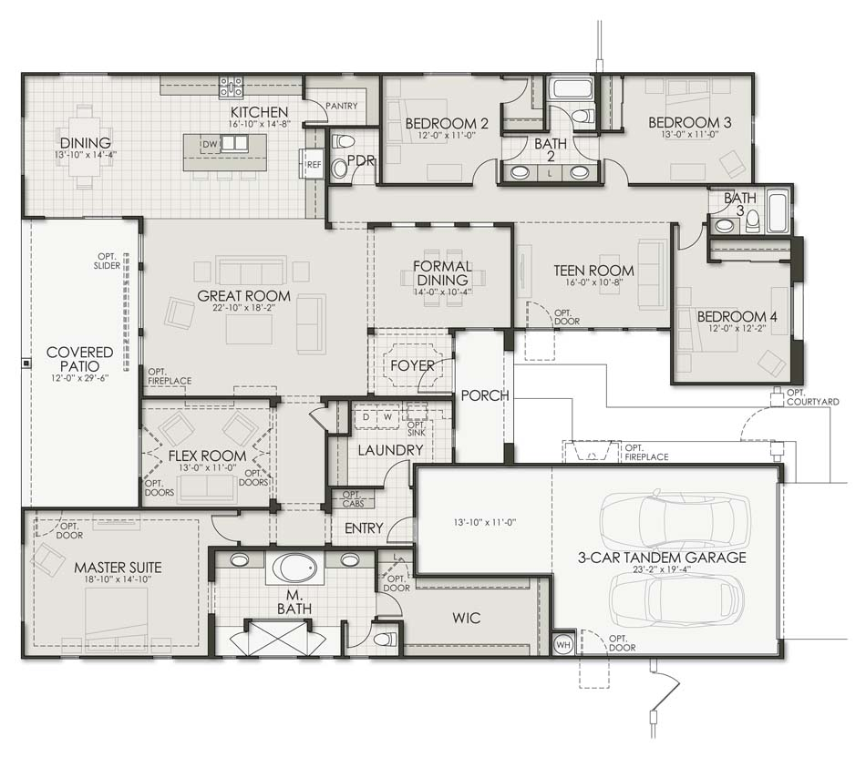 Vega - Plan 3288 Floorplan Image