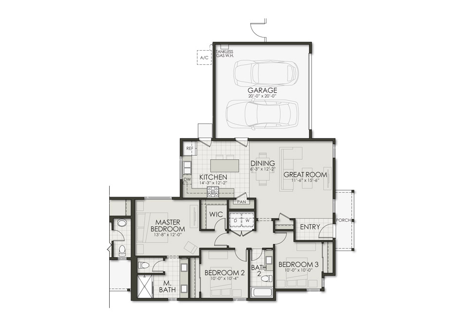Plan Seven (Duet) Floorplan Image